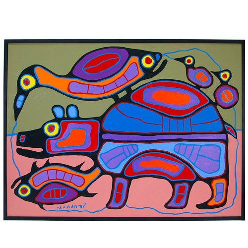 Norval Morrisseau - Animal World - Paintings