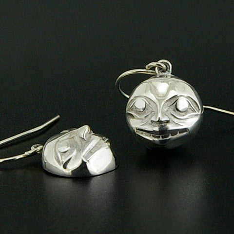 Human - Silver Earrings