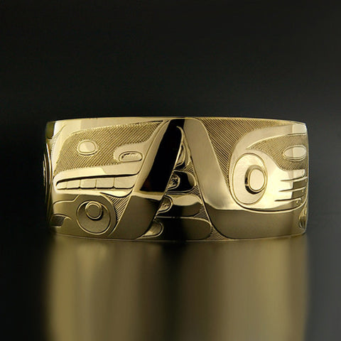 Bear and Whale - 14k Yellow Gold Bracelet