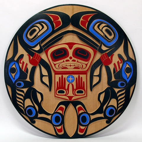Salmon People - Red Cedar Panel