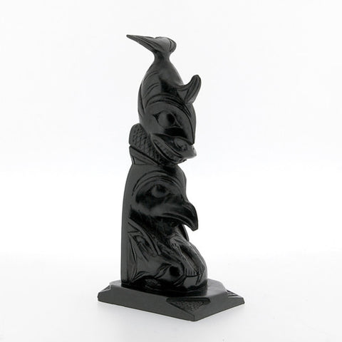 Whale, Eagle, Salmon - Argillite Pole