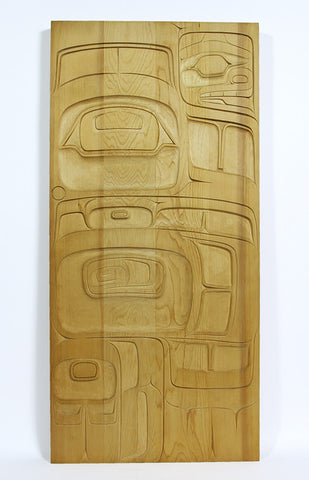 Eagle Human - Yellow Cedar Panel