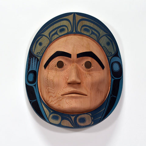 Moon - Red Cedar Mask