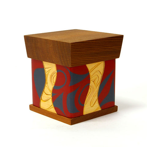 Raven - Red and Yellow Cedar Bentwood Box