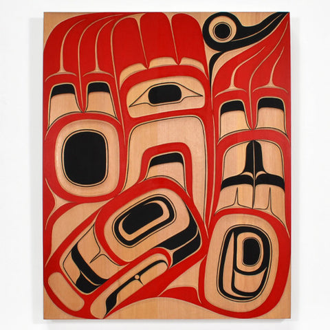 Diving Eagle - Red Cedar Panel