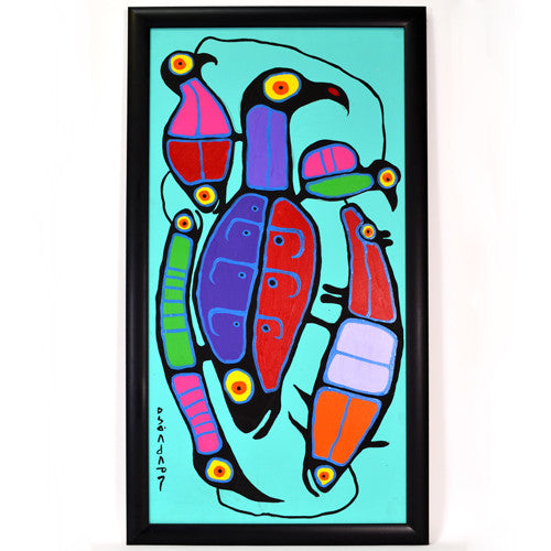 Norval Morrisseau - Amongst Friends - Paintings