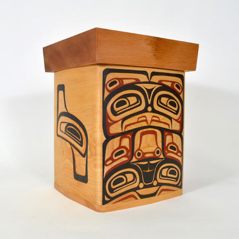 Eagle - Red and Yellow Cedar Bentwood Box
