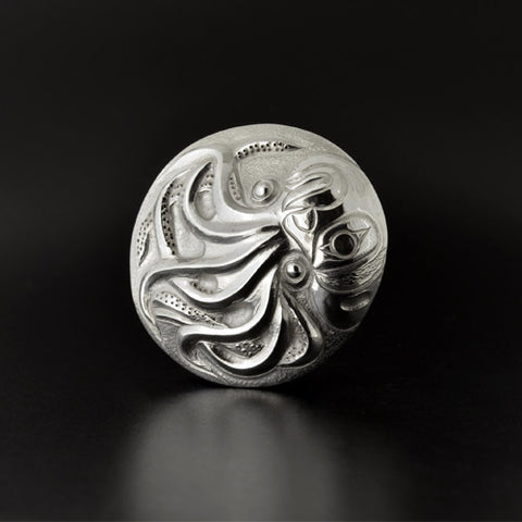 Dzunukwa and Octopus - Sterling Silver Pendant