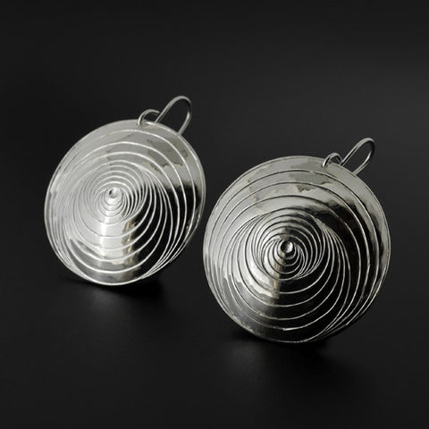 Clamshell - Silver Earrings