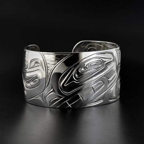 Killerwhale and Eagle - Silver Baraclet