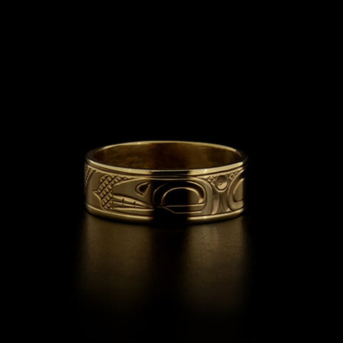 Whale - 14k Gold Ring