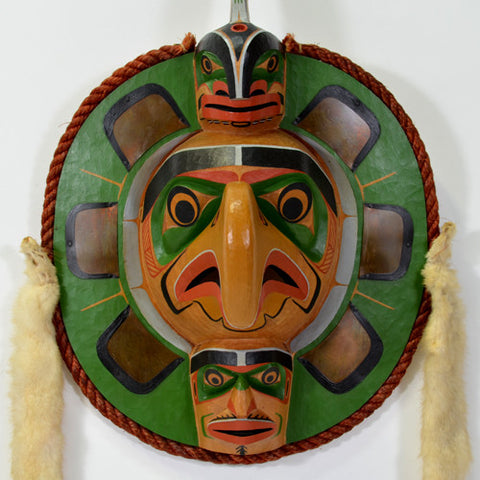 Eagle Frontlet with Whale and Human - Red Cedar Mask