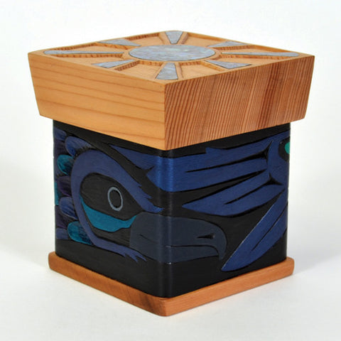 Raven and Sun - Cedar Bentwood Box