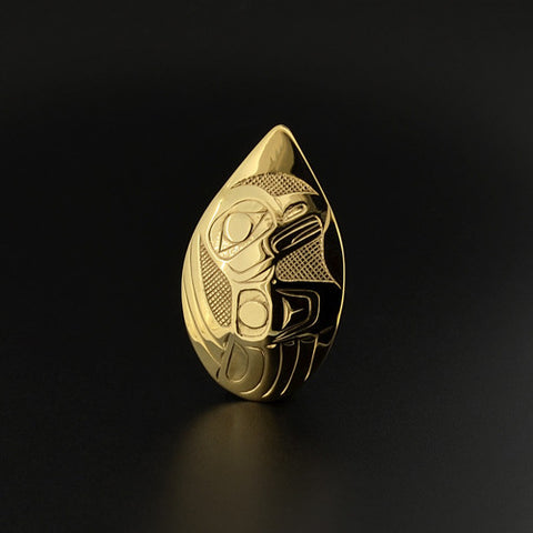 Eagle - 14k Gold Pendant