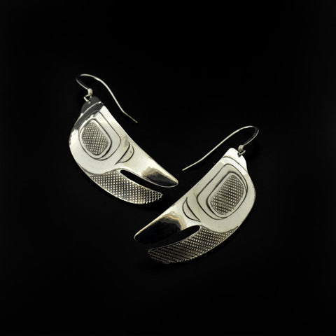 Crab Claws - Silver Earrings