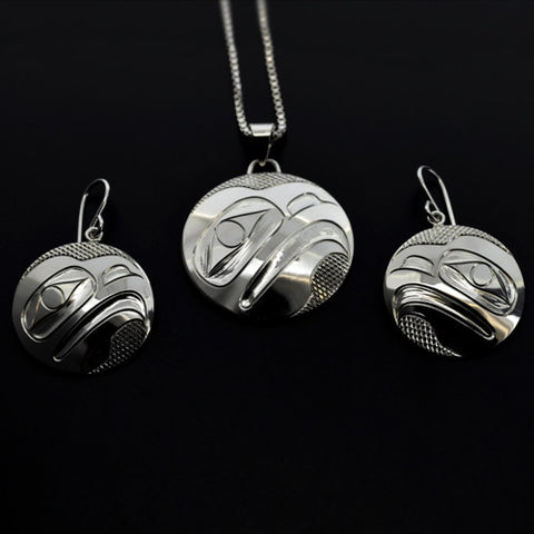 Eagle - Silver Pendant and Earrings Set