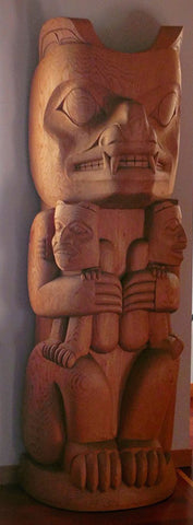 Bear Mother - Red Cedar Totem Pole
