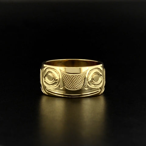 Frog - 14k Yellow Gold Ring