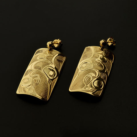 Hummingbirds - 14k Gold Earrings