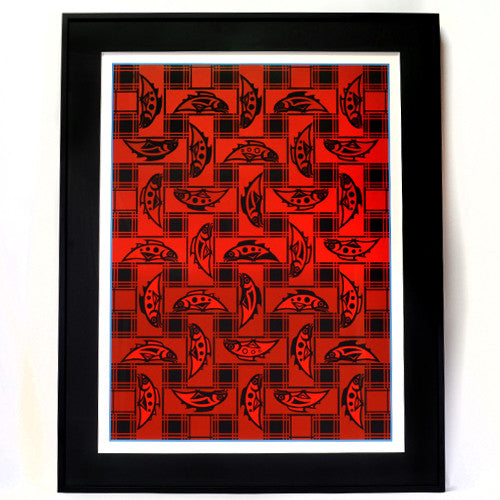 Susan Point - Salmon Blanket Design - Prints
