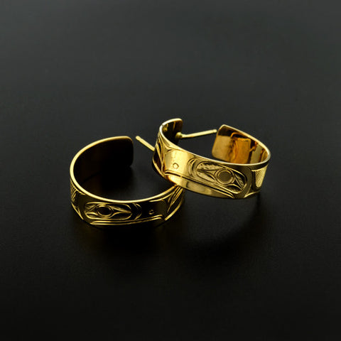 Raven - 18k Gold Earrings