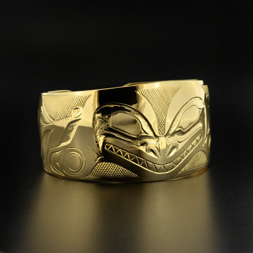 Clarence Mills - Haida Killerwhale - Gold Jewellery