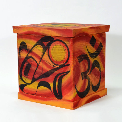 Ian Reid - Raven Obtains In-light-tenement - Bentwood Boxes