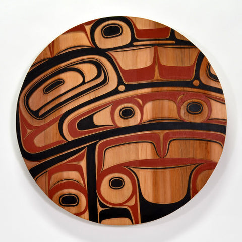 Circles in Time - Red Cedar Panel
