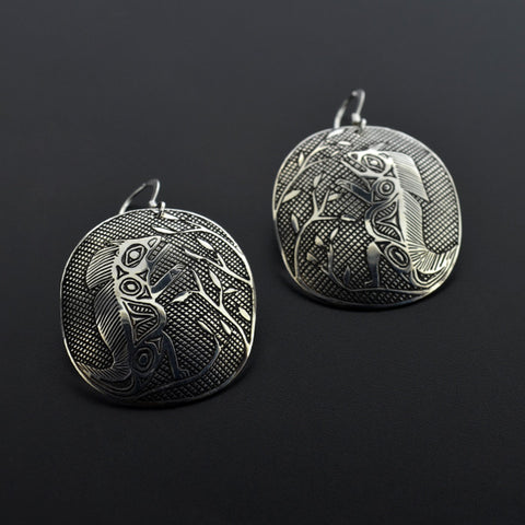 Porcupine - Silver Earrings