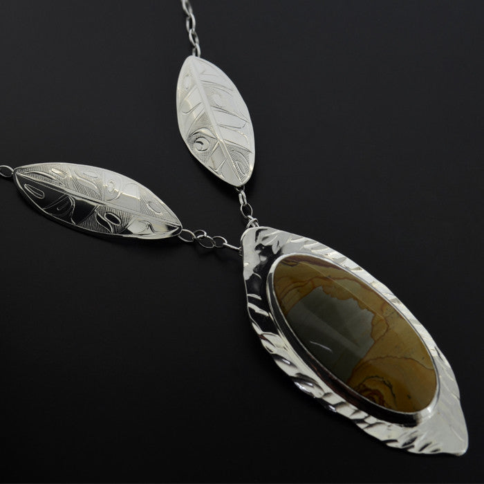 Leaves Fallen from the Trees - Silver Necklace