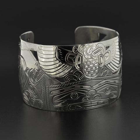 Big House in the Forest - Silver Bracelet