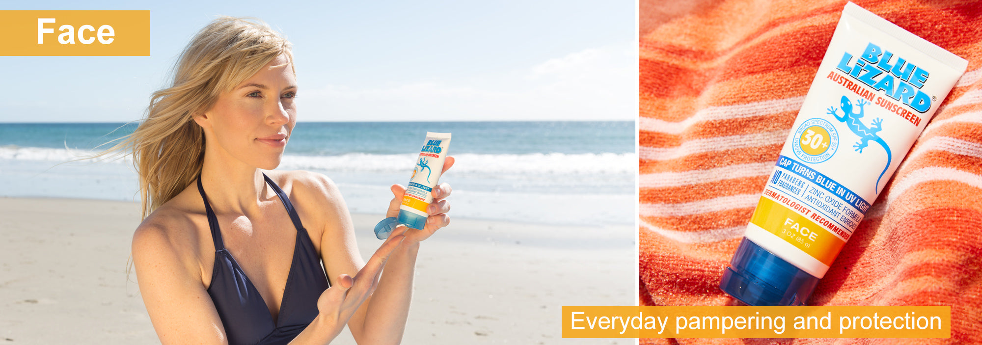 Face Sunscreen by Blue Lizard Australian Sunscreen - Everyday pampering and protection