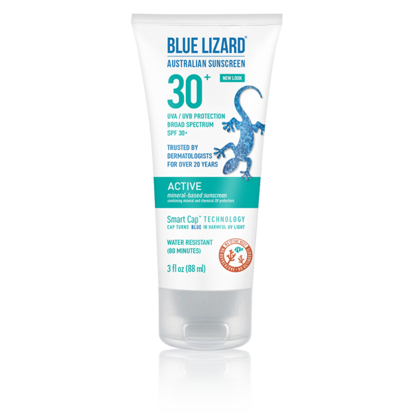 NEW! Blue Lizard Australian Sunscreen Active 3oz Tube