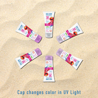 Cap Changes Color in UV Light