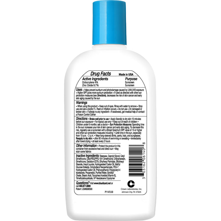 Blue Lizard Kids sunscreen ingredients