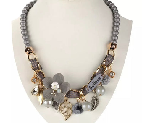 Grey Believe Necklace