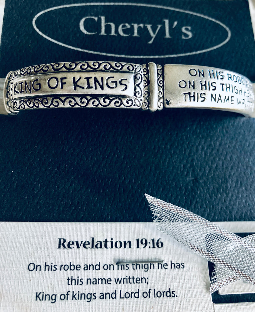 "Revelations 19:16 ""King of Kings"" Stretch Bracelet"
