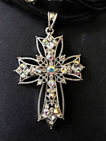 Embellished Cross Necklace