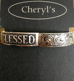 Faith & Blessed Stretch Bracelet
