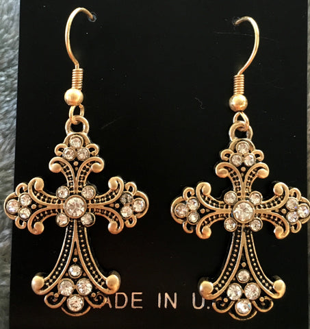 Hook Cross Earrings