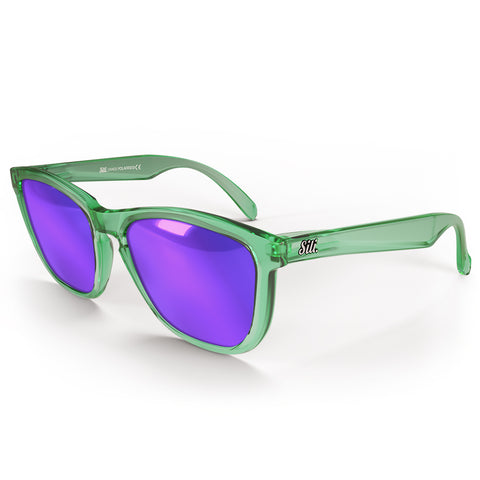 Zeus - Green Frame with Purple Lenses