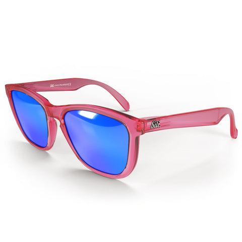 Zeus Red Frames with Blue Lenses
