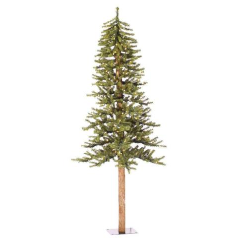 Vickerman 6' Natural Green Alpine Tree with 250 Clear Mini Lights