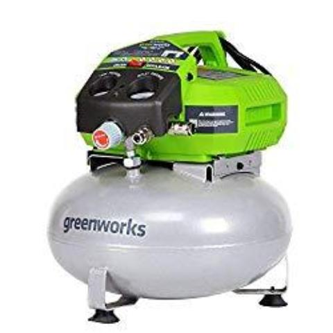 Greenworks 6-gallon Air Compressor and Nailer/Stapler Combo Kit