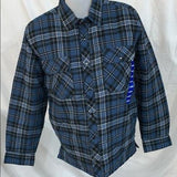 BC Clothing Men's Plaid Shirt Jacket with Quilted Lining