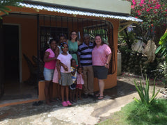 Farmer's family in the fair-trade Fundopo Co-operative, Dominican Repulblic