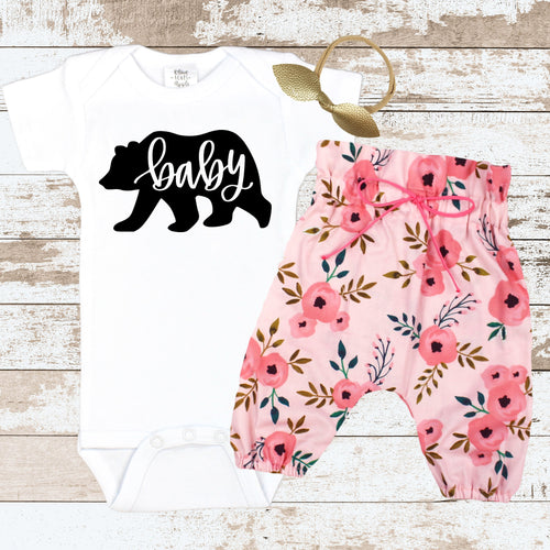 BABY BEAR Pink Newborn Outfit