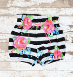 Black and White Striped Bloomers