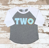 Donut Two Gray Raglan