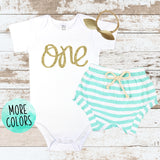 Gold One Mint Shorts Outfit
